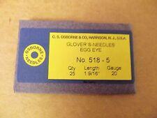 C.S. Osborne #518 Glovers Needles Size 5 (Pack of 25)
