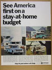 1966 Dodge Pickup Trucks Freeway Camper & Van photos vintage print Ad