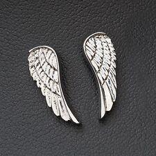NUOVO 1,8cm Orecchini a bottone con ala in argento Wings Earrings Orecchini ala angelo