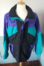 Vtg Columbia 80s 90s Color Block Pullover Radial Sleeve Windbreaker Jacket Med