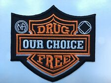 drug free patch drug free our choice patch narcotics anonymous na patch 3.5""