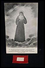 † VHM ORDER SAINT MARGARET MARY ALACOQUE 1 RELIC + 1 POSTAL CARD SACRED ❤️ †