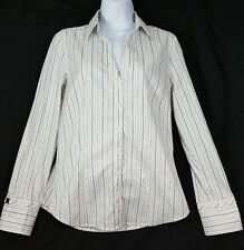 Express Woman's Pin Striped Long Sleeves Dress Shirt Medium