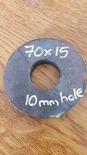 15mm Disco Rotondo Cerchio Lastra foglio di acciaio dolce 70x15 con foro 10mm