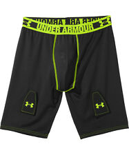 Under Armour Ua Hockey Grippy Fitted Black Shorts w/ Cup Boys Xl *New*