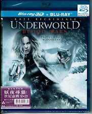 Underworld Blood Wars (3D+2D Blu ray) Region Free Hong Kong Version 2-Disc 2017