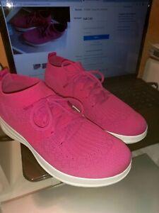 Federleichte FITFLOP Fußbett Sneaker Uberknit Schnürer Stretch F-SPORTY Pink TOP