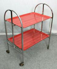 50er Servierwagen Teewagen Vintage Mid Century Rot-Weiß! * Tea Trolley 50s / 60s