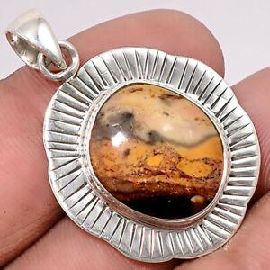 Natural Mescalero Jasper 925 Sterling Silver Pendant Jewelry 0083