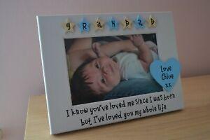 Personalised photo frame Grandad Grandma gift loved you my whole life