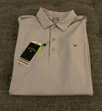 Nwt Callaway Golf Opti-Dri Polo Shirt Mens Size Large UPF 40 Quarry Gray $70 G3