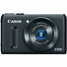 Canon PowerShot S100 12.1 MP Digital Camera (Black) w/Carry Case, Free Shipping!