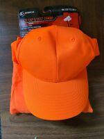 Outdoor Cap Hunting Blaze Orange Hat Combo And Safety Vest Adult Adjustable