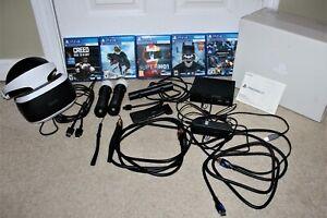 Sony Playstation VR Bundle PSVR PS4 Monster HDMI Cables Creed Jurassic Ark Park
