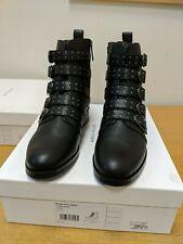 Karen Millen Bronte Black Ankle Boots Ladies Size 6 New Ref HVR
