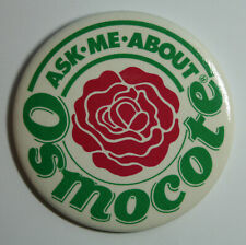 "Vintage Pinback Button Scotts Fertilizer ""Ask Me About Osmocote"" 3"""