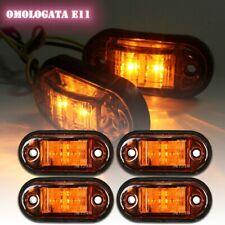 4pcs LED Side Marker Light Indicator Lamp Truck Trailer Lorry Van E mark Amber