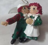 "Raggedy Ann & Andy Christmas Holiday Ornament TM & S&S 1998 3"" Tall"