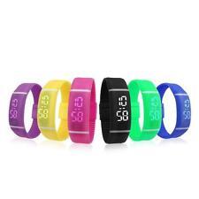 Mens Womens Cheap Rubber LED Sport Watch Date Sports Bracelet Digital Wristwatch