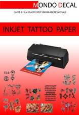 CARTA TRANSFER TATUAGGI TEMPORANEI  (TEMPORARY TATTOO PAPER) 1 KIT STAMPA INKJET