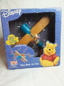 New 2002 Disney Airplane Tethered Flying Winnie The Pooh Fusion Toys