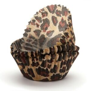 Leopard Print Jungle Baking Cups - Pack of  50 Patty Pans Cupcake Papers Party