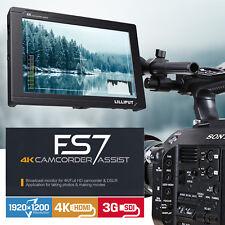 "LILLIPUT 7"" FS7 1920x1200 IPS 3G-SDI 4K HDMI Camera Top Monitor SONY F970 plate"