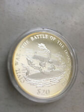 2000 Liberia Ironclad BU Silver Coin in Capsule