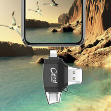 4 in 1 Micro USB Type C OTG Micro SD TF Card Reader for iPhone Android PC type c