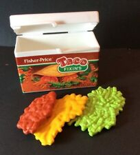 Fisher Price Fun With Food Taco Box Meat Cheese Lettuce Mexican Play Pretend
