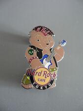 Hard Rock Cafe Tokyo 2011 - Rock Star Teddy Bear -  Punk Bear & Blue Guitar Pin
