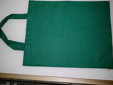 schlichte Einkaufstasche, Stofftasche, Beutel, Baumwolle, grün-gold, dezent