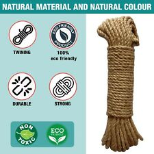 Jute Rope 6mm Ideal for DIY Projects or Cat Scratch Post Durable and Resilient