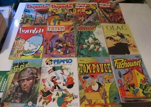 FRENCH COMIC BOOK DIGEST LOT OF 12 COMIC BOOK BUNDLE 1960s FREE SHIPPING *******