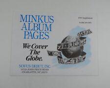 Minkus Vatican City 1995 Supplement Stamp Album Pages