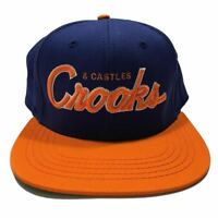 Crooks & Castles Team Snapback Baseball Cap Hat Sports Adjustable New Blue
