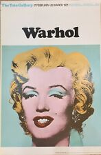 Marilyn Monroe- by Andy Warhol 1971 Tate Gallery, London Exhibition Poster