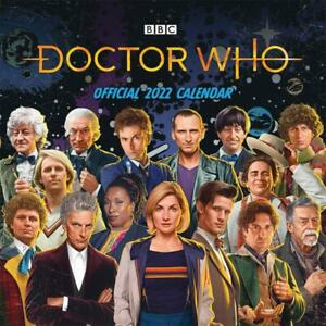 """Doctor Who Official Calendar 2022 Square 12"""" x 12"""" Official Merchandise"""
