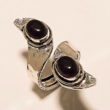 Ring Fashion Jewelry Adjustable Size Amethyst 925 Silver Plated Gemstone