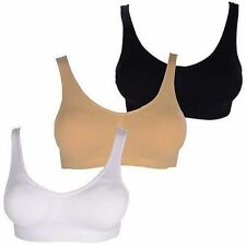 Body Essentials Control Seamless Bra Set of 3 XL Size 16 1 Black & 2 Nude