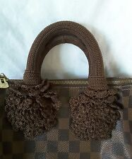 Handle Cover Crochet Handmade for LV SPEEDY 25 30 35 ALMA GORGEOUS Dark Brown