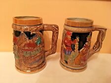 vintage german japan beer steins 5.5'' mugs set of 2