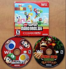New Super Mario Bros. Wii + Donkey Kong Country Returns Wii (Nintendo Wii, 2009)