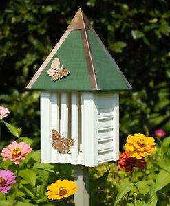 "BUTTERFLY HOUSES - ""HIGHGROVE GARDENS"" BUTTERFLY HOUSE - WHITE - GARDEN DECOR"
