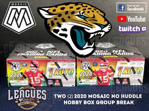 Jaguars | 2020 Panini Mosaic NO HUDDLE Hobby Box Football Two (2) Box Break