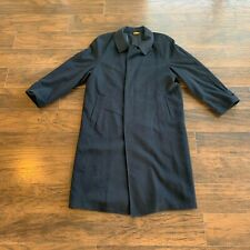Ing Loro Piana C 100% Cashmere Men's Size 40R Black Long Coat See Measurements