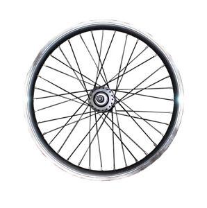 Kids BMX Front Wheel Rim  20'' Bike Wheel Rim Black Spokes Disc/V Brake