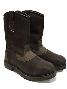 """WORX Red Wing Mens 10"""" Cordura Pull-on Steel Toe Waterproof Boot Brown NEW 8M"""