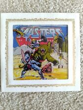 Masters of the Universe carnival glass; He-Man, Battle Cat, Skeletor, Teela