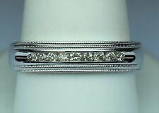 Men's 1/4cttw 9 diamond band H-J SI3 14kt white gold size 10.25 TIMELESS CLASSIC
